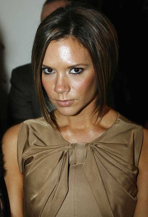Victoria Beckham Dark Brown Bob Hair