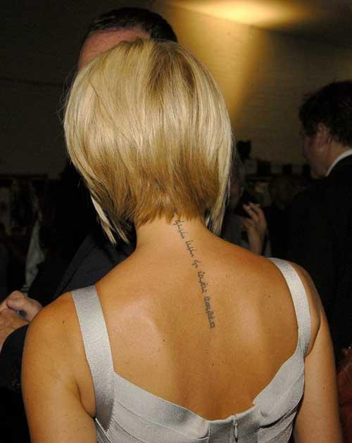 Victoria Beckham Layered Bob Back View