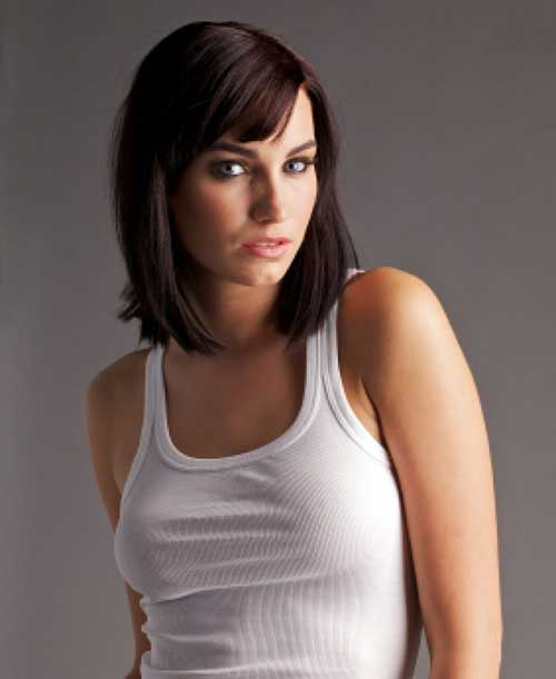 Women's Medium Length Dark Hairstyles