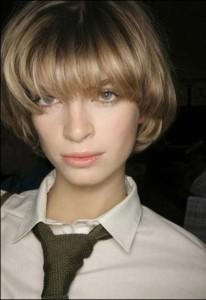 Ash Blonde Short Blunt Bob Hairstyles
