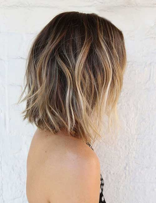 Balayage with Medium Bob Haircuts