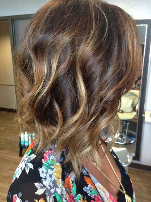 Balayage with Mid Wavy Bob Haircuts