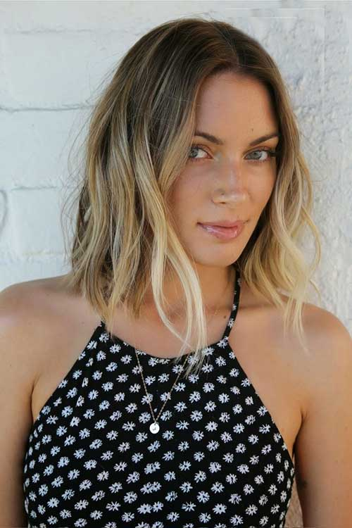 Balayage with Wavy Long Bob Cuts