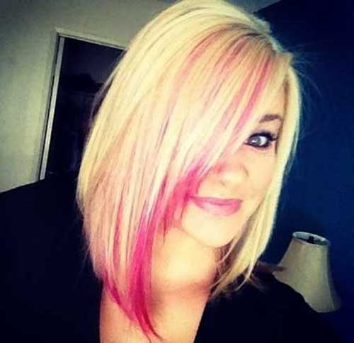 Best Bob Hairstyles Blonde Pink Hair Colors