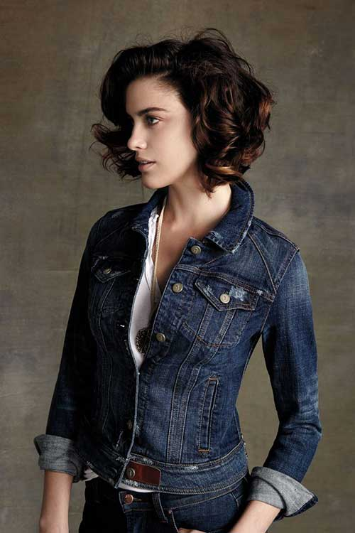 Best Dark Curly Hair Bob Cuts