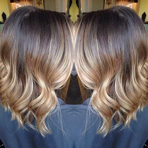 Blonde Balyage and Ombre Long Bob Hair