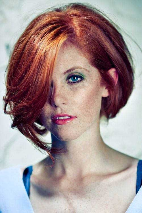 Bob Hairstyles with Ginger Color