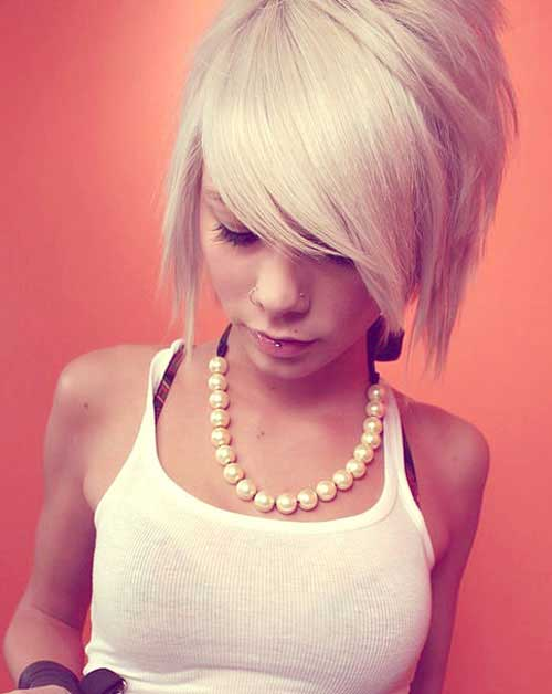 Bobs with Blonde Color
