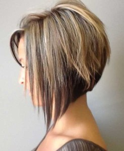Bobs with Highlighted Hair Color