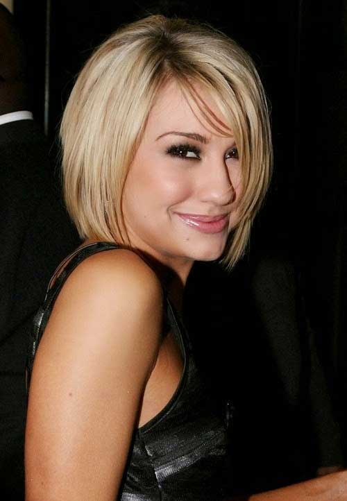 Celebrity Bob Straight Hairstyles with Dark Roots