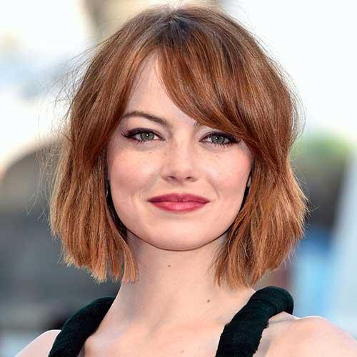 Celebrity Bob with Bangs Hairstyles 2014-2015