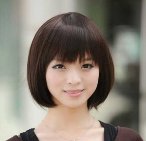 Chinese Blunt Bob with Bangs Hairstyles 2014-2015