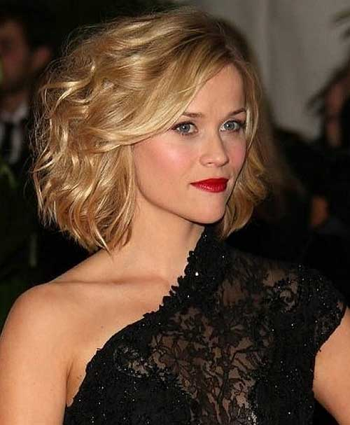 Curly Blonde Celebrity Bob Hairstyles 2014-2015