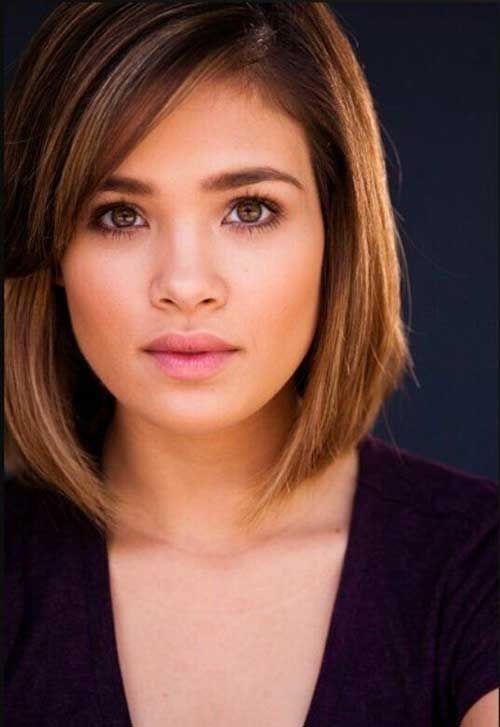Cute Bob Hair Cut for Round Faces