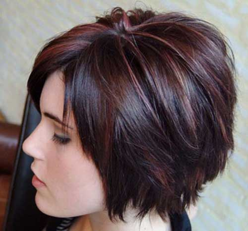 Dark Bob Hairstyles with Colors