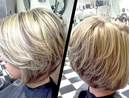 Graduated Blonde Bob Haircut Ideas