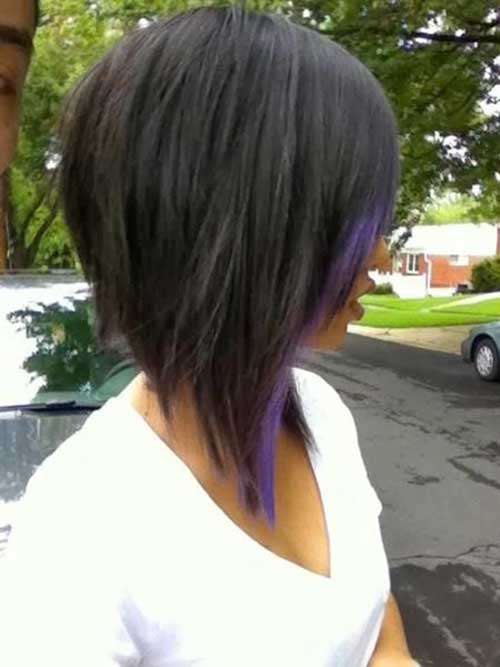Inverted Bob with Dark Hair Colors
