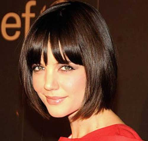 Katie Holmes Blunt Bob with Bangs