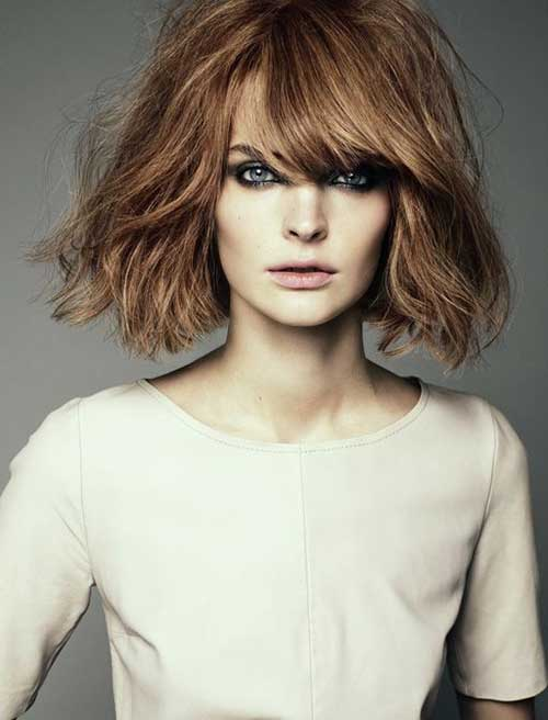 Layered Bangs Light Brown Bob Hairstyles