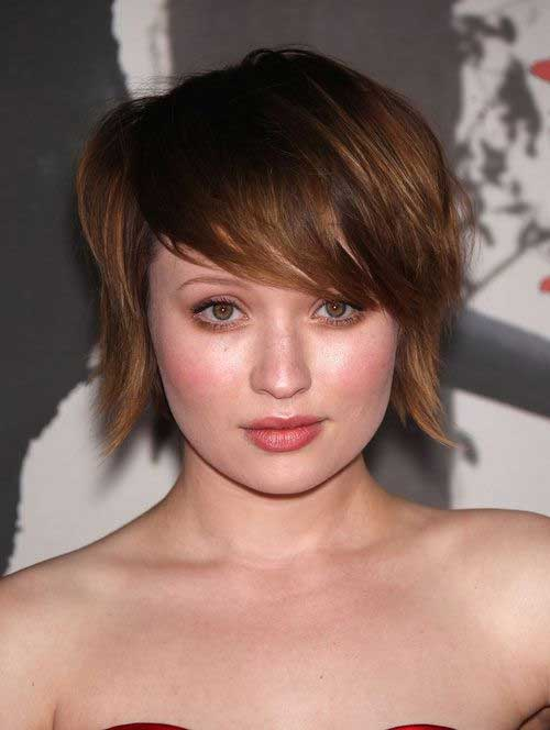 Layered Short Bob Hair Round Faces