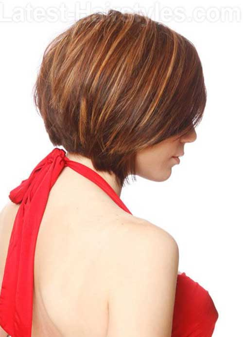 Light Brown Bob Haircut Back View