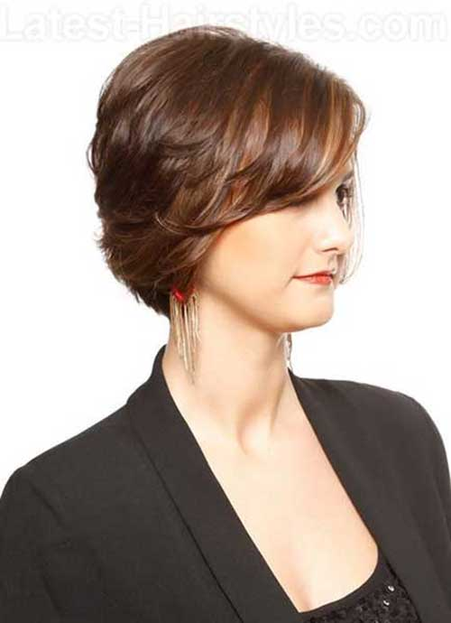 Light Brown Bob Haircut Side View