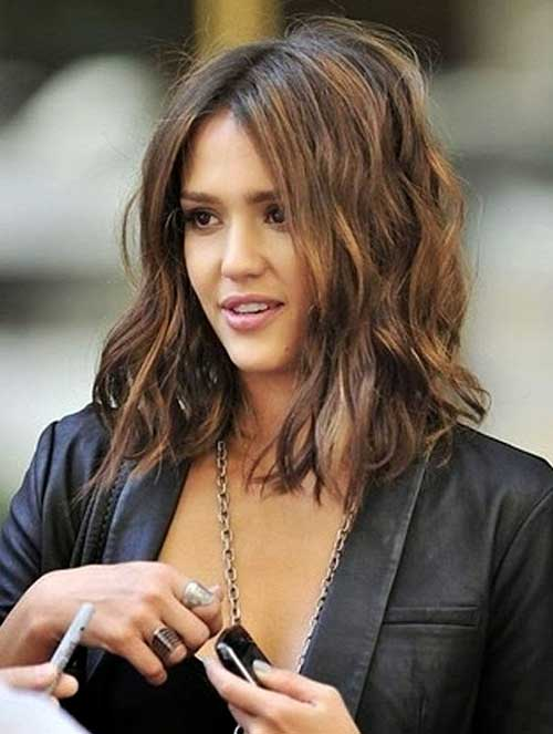 Light Brown Long Wavy Bob Hairstyles