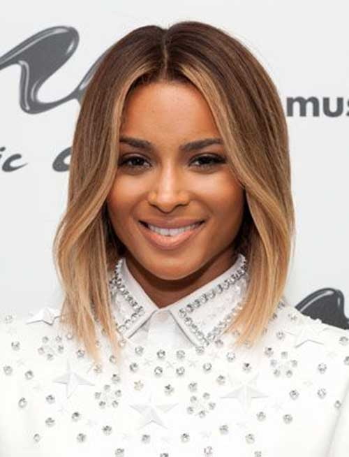 Light Brown Straight Bob Hairstyles