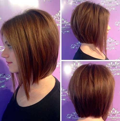 Long Bob Cut for Round Face