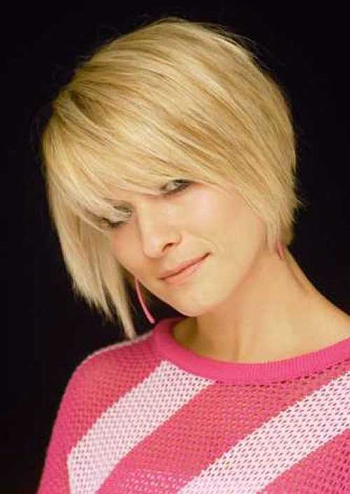 New Layered Bangs Blonde Bob Hair Style