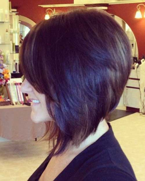 New Layered Dark Bob Hair Style