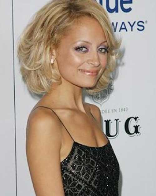 Nicole Richie Curly Bob Hairstyle