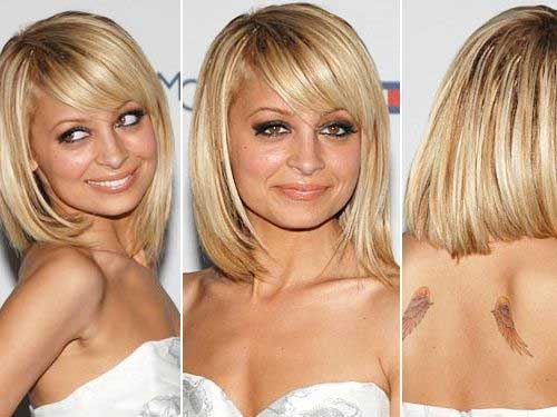 Nicole Richie Long Bob Hair Style