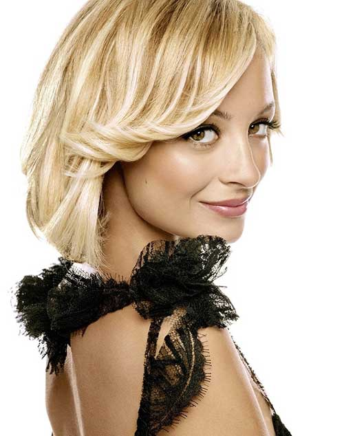 Nicole Richie Long Layered Bob Haircuts