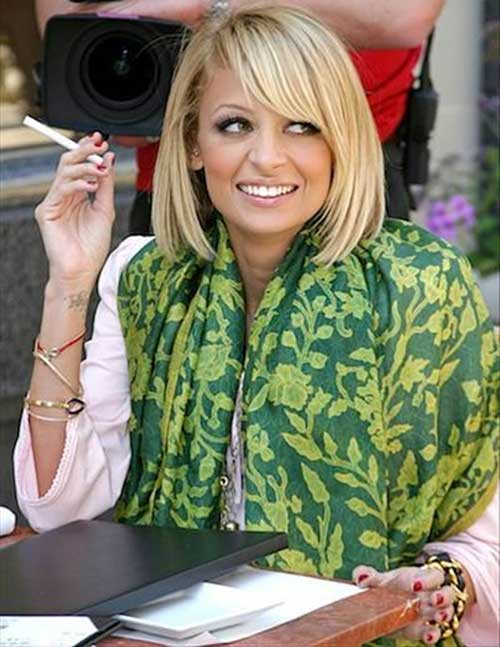 Nicole Richie Nice Short Bob Haircuts and Bangs