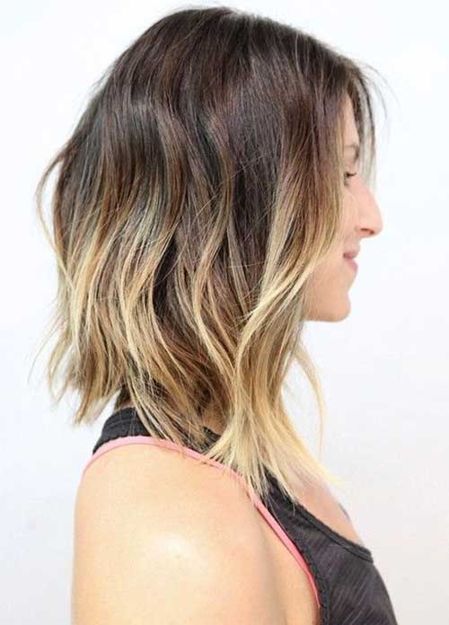 Blonde Ombre Long Bob