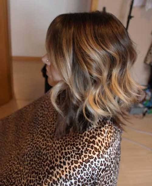 Ombre Long Nice Wavy Blonde Bob Hair