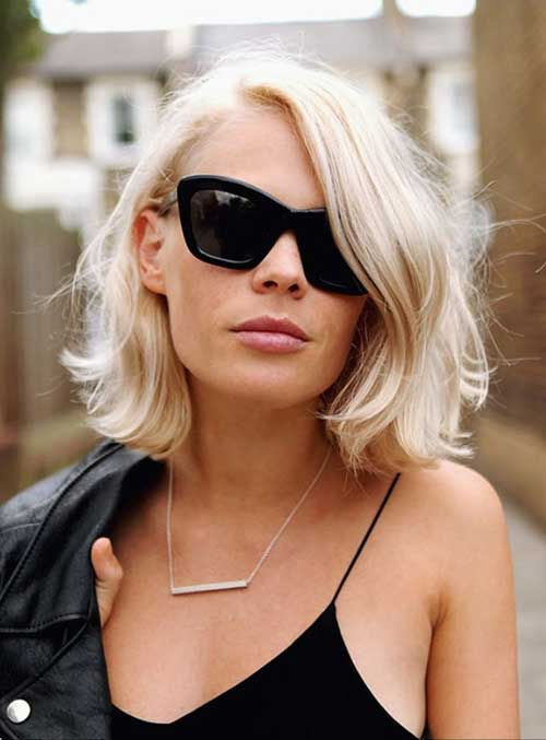 Platinum Bob with Blonde Color Ideas