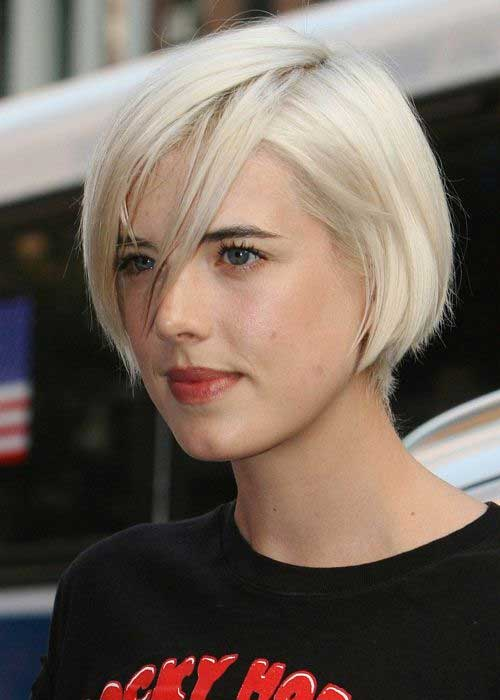 Short Blonde Bob Cut Style Pictures