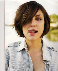 Side Swept Bob Hair Cut for Round Faces