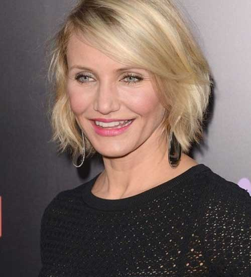 Straight Side Swept Blond Bob Hairstyles 2014-2015