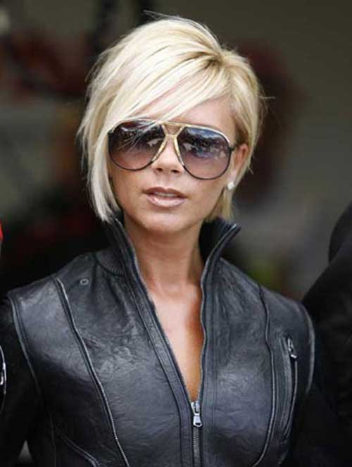 Victoria Beckham Blonde Bob Hairstyles with Layers