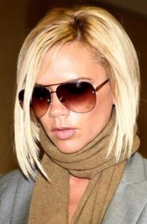 Victoria Beckham Blonde Line Bob Hairstyles