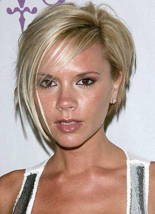 Victoria Beckham Blonde Short Layered Bob Hairstyle