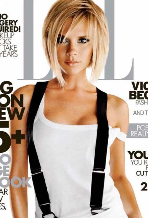 Victoria Beckham Blonde Bob Haircut