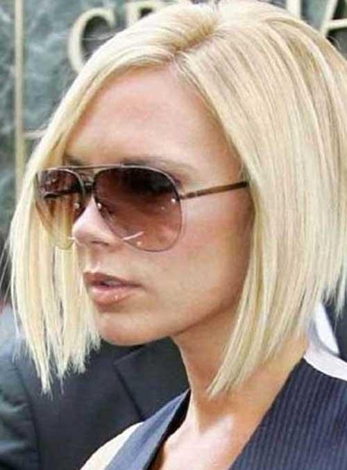 Victoria Beckham Bob Blonde Hairstyle