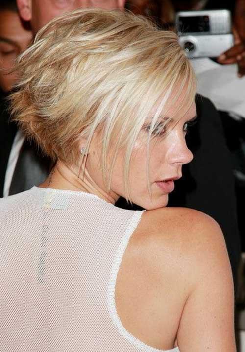 Victoria Beckham Blonde Bob Hairstyles