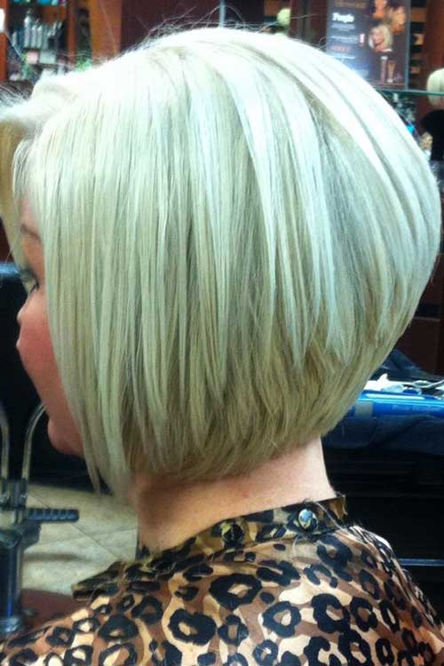 Aline Blonde Bob Haircut