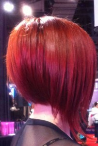 Aline Red Bob Haircuts