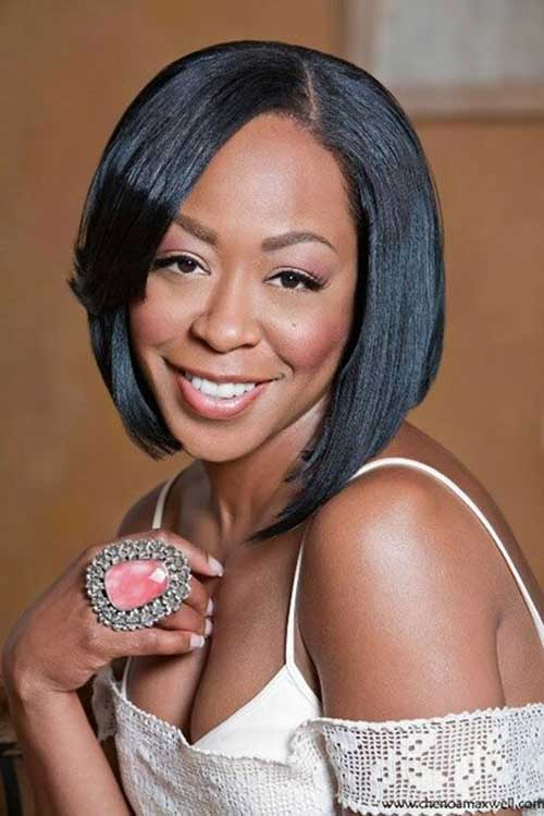Asymmetrical Bob Hairstyles for Black Women 2015